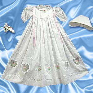 Wrap Dress on Baby Christening Gown