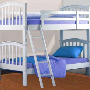 Simple Bunk Beds Furniture Sets Stairs Contemporary White Kids