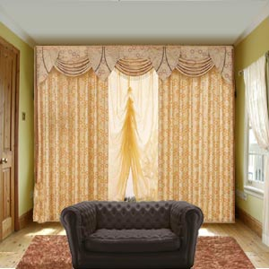 Sew Simple Curtains and a Valance - free sewing pattern