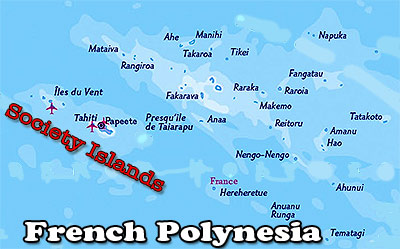 Map of French Polynesian Islands