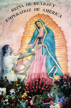 Wall painting depicting Mother Mary