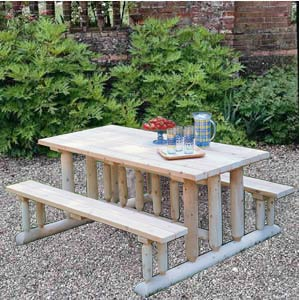 how to make a benchless picnic table