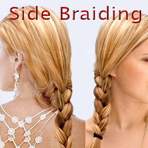 Messy Side Braiding