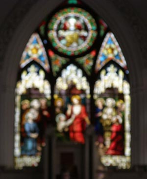 Stained Glass image out-of-focus