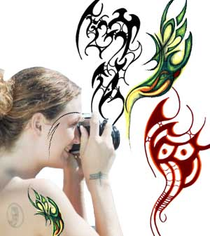 selecting a  tattoo design